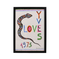Yves Saint Laurent Original Holiday Greeting 1975