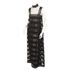Chanel Satin & Tulle Evening Dress