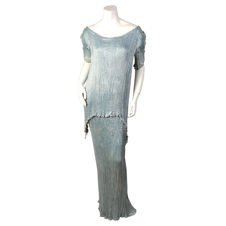 Fortuny Peplos Dress And Belt For