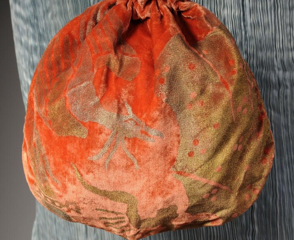 Gallenga Stenciled Velvet Bag 2