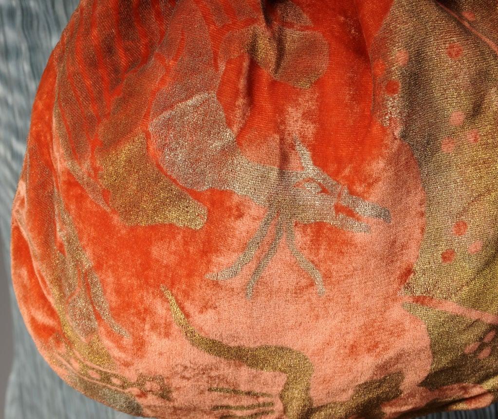 Gallenga Stenciled Velvet Bag 3