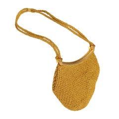 Rodo Woven Gold Bag