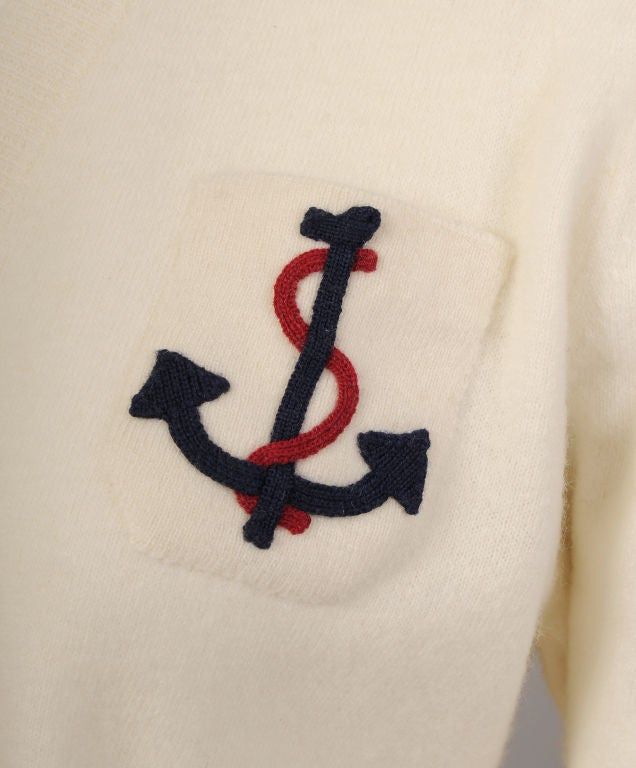 Nautical Cashmere Sweater image 3