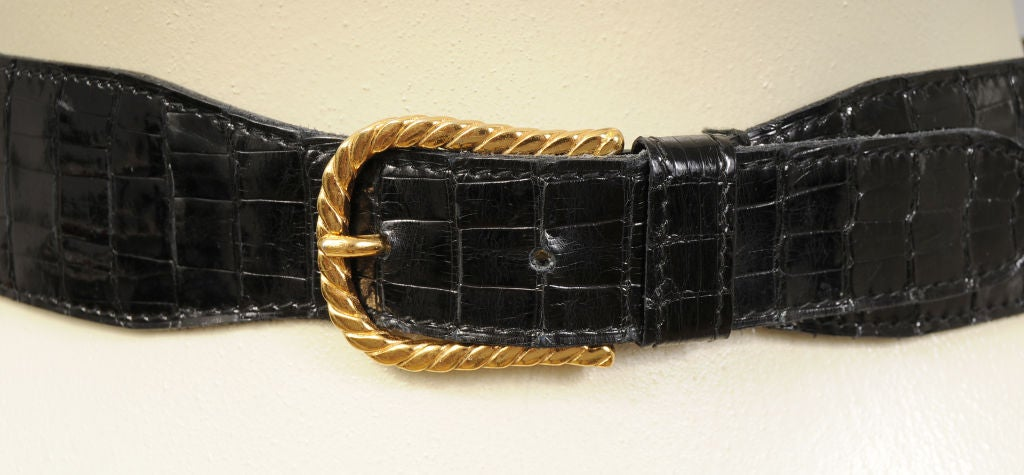 Gucci Crocodile Belt 3