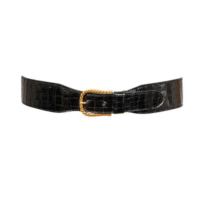 Gucci Crocodile Belt