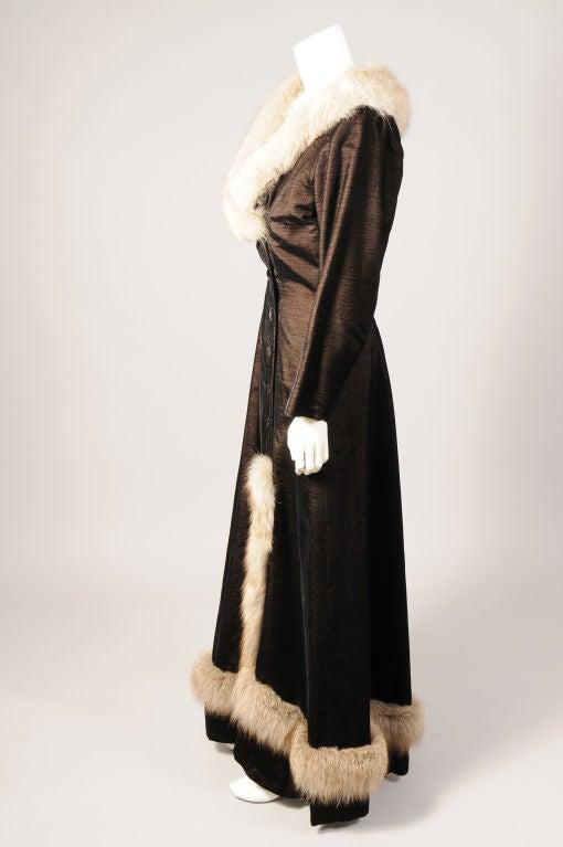 Black Princess Irene Galitzine Metallic Velvet Evening Dress For Sale