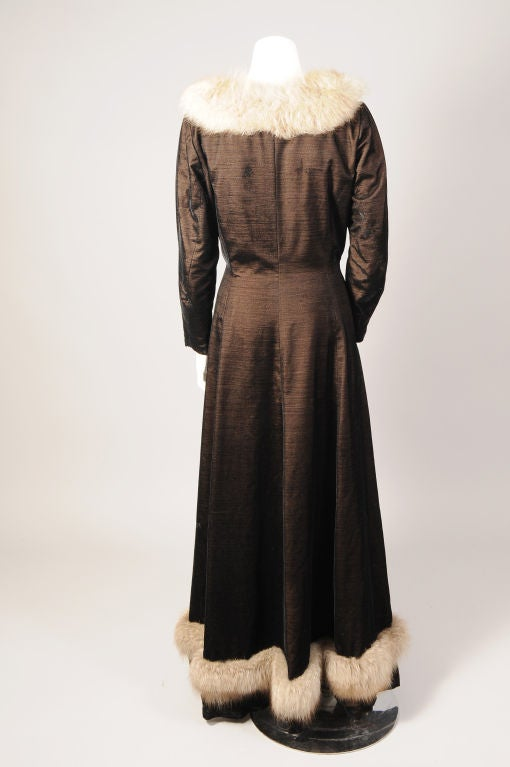 Princess Irene Galitzine Metallic Velvet Evening Dress In Excellent Condition For Sale In New Hope, PA