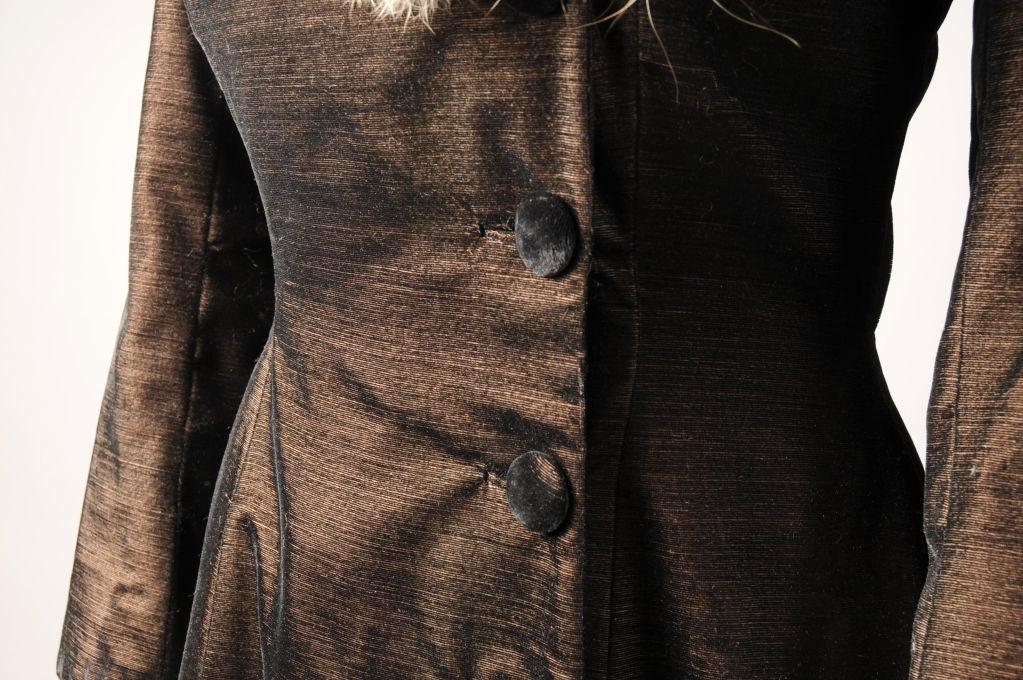 Princess Irene Galitzine Metallic Velvet Evening Dress For Sale 1