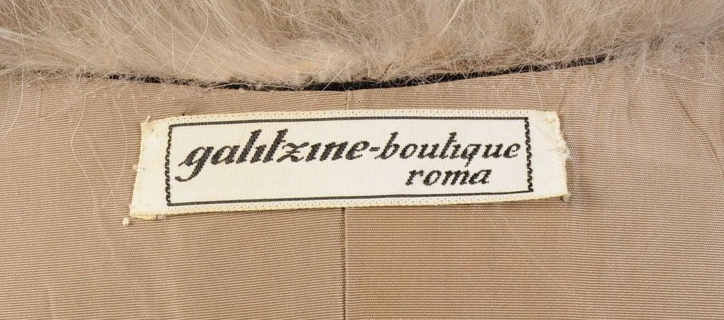 Princess Irene Galitzine Metallic Velvet Evening Dress For Sale 2