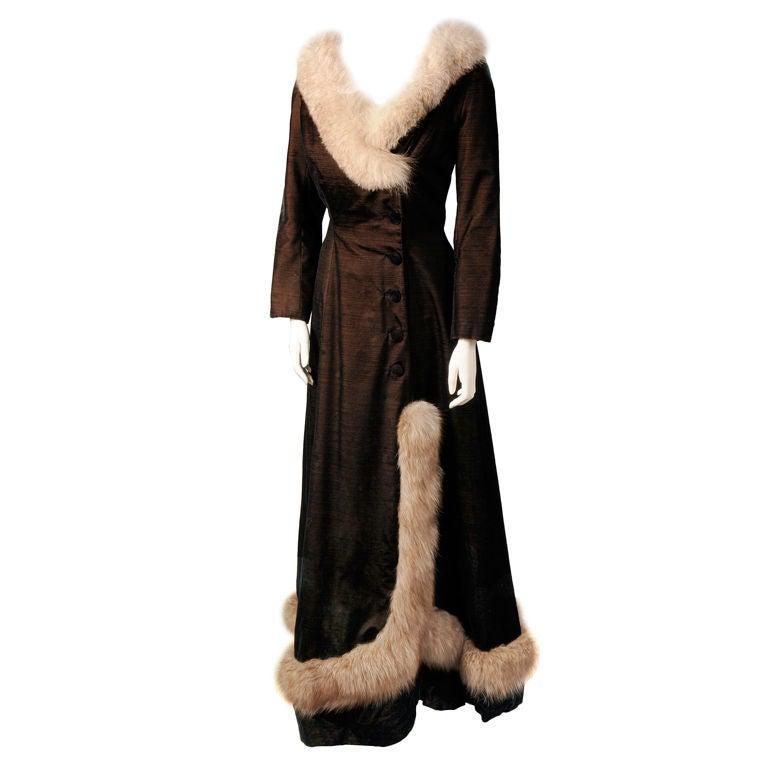 Princess Irene Galitzine Metallic Velvet Evening Dress For Sale