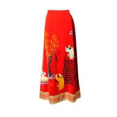 Tina Leser Hand Painted Skirt