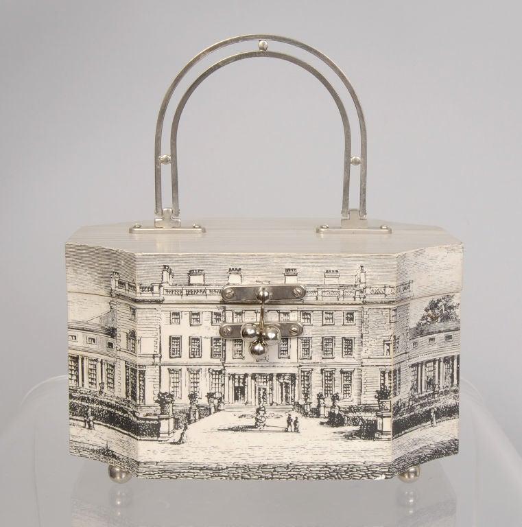 Fornasetti Style Box Bag 2