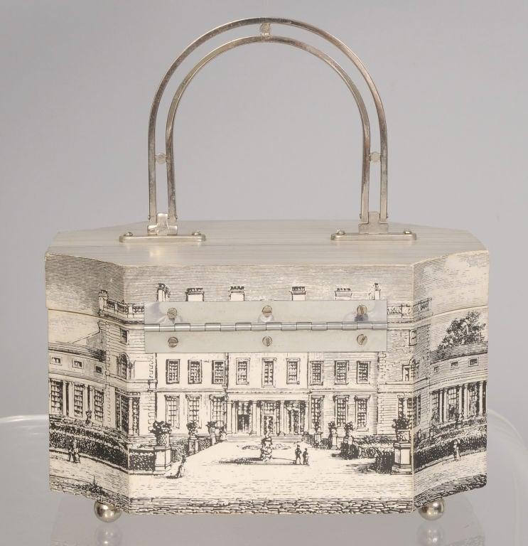 Fornasetti Style Box Bag image 5