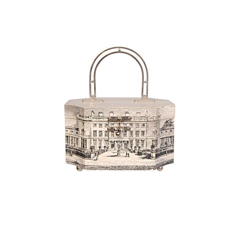 Fornasetti Style Box Bag