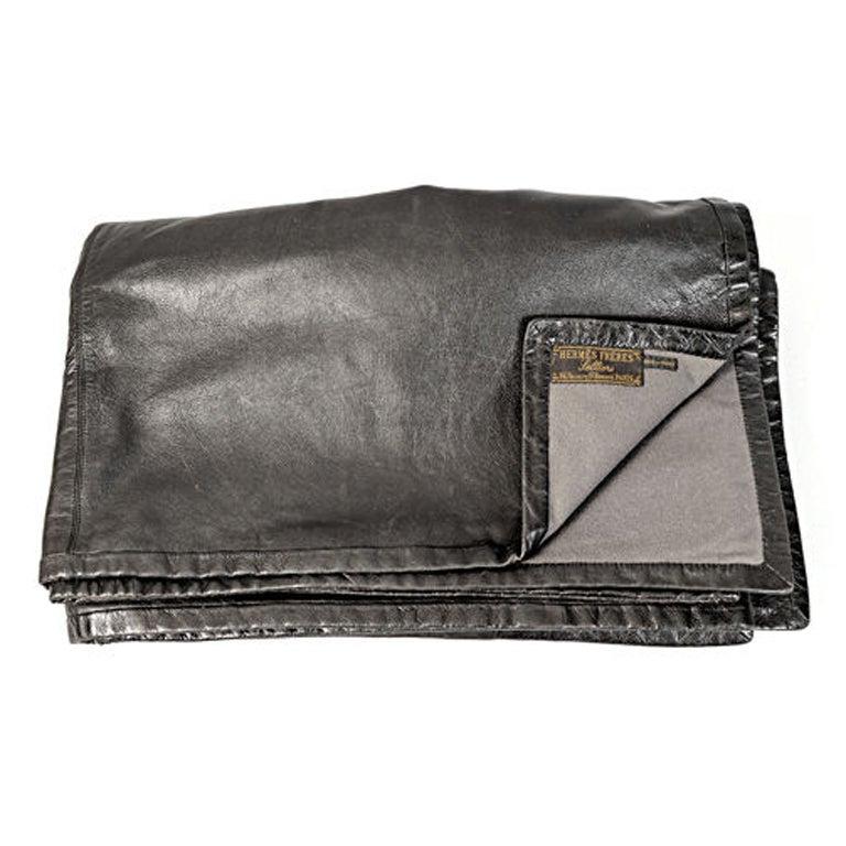 Vintage Hermes Leather Blanket At 1stdibs