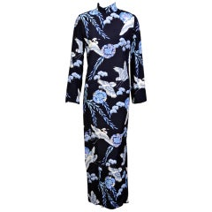 George Halley Oriental Print Dress