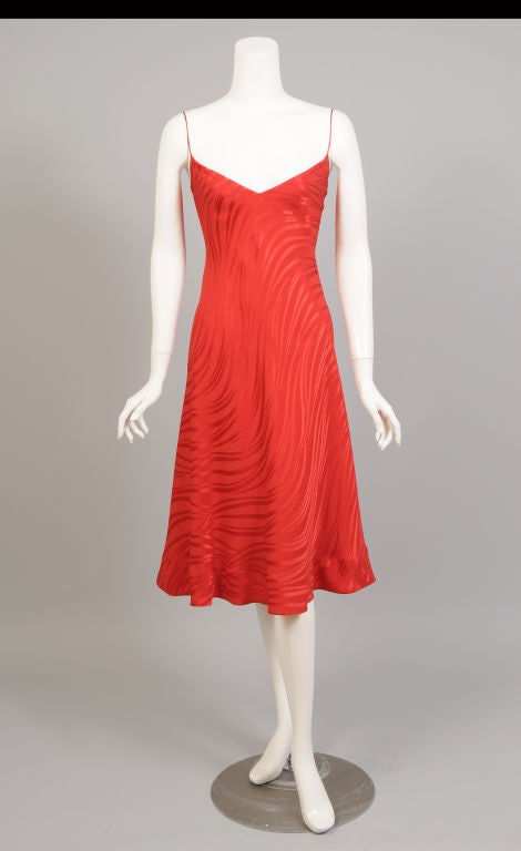 Stavropoulos Red Silk Slip Dress  3