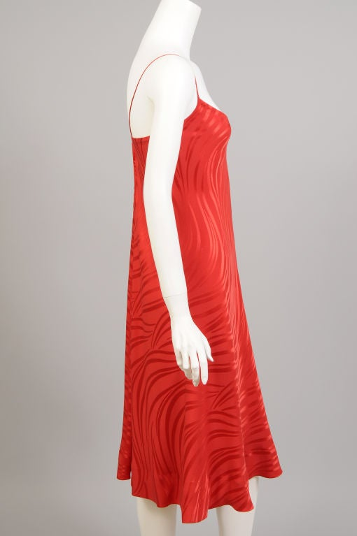 Stavropoulos Red Silk Slip Dress  5