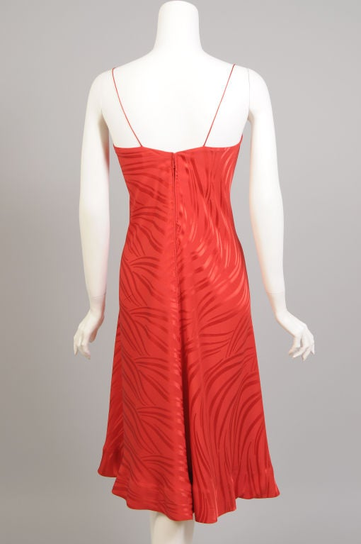 Stavropoulos Red Silk Slip Dress  6