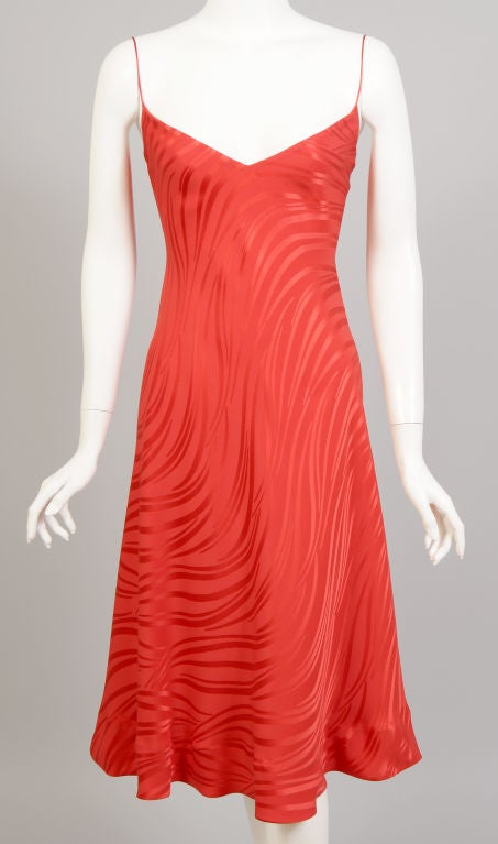 Stavropoulos Red Silk Slip Dress  2