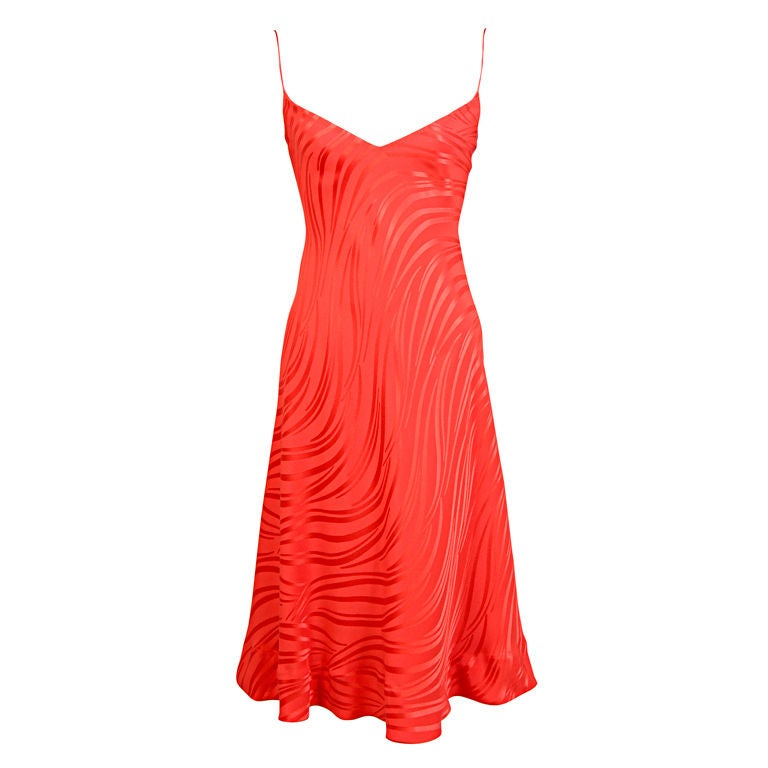 Stavropoulos Red Silk Slip Dress  1