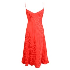 Stavropoulos Red Silk Slip Dress