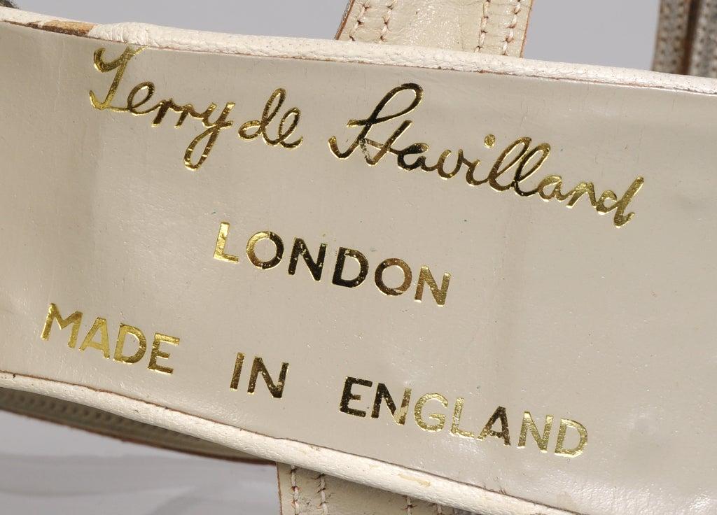 Women's Terry De Havilland 1970's Vintage Wedding Shoes Silver Heart & Flower Decoration For Sale