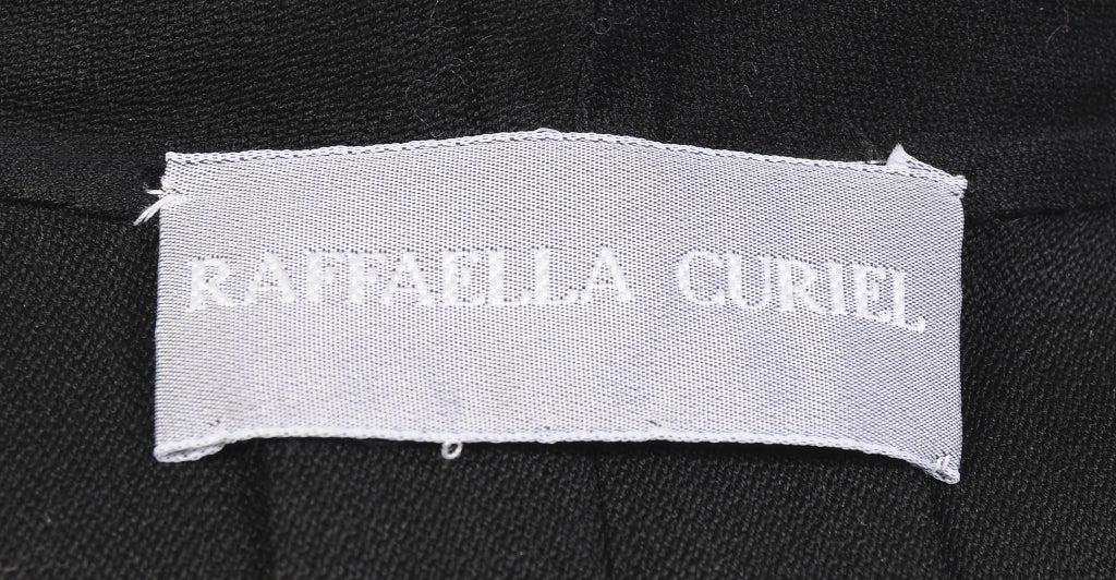 Raffaella Curiel Italian Light Weight Black Wool Coat Late 20th Century 3