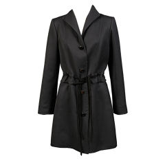 Raffaella Curiel black wool coat