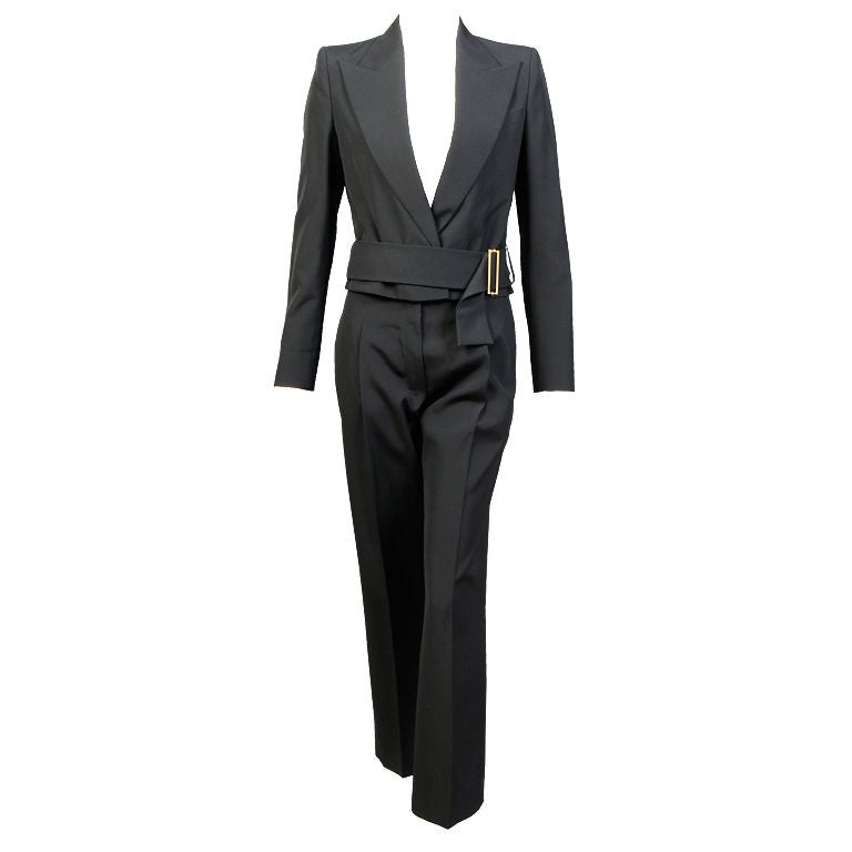 Yves Saint Laurent Cropped Jacket and Matching Pants, Appears Unworn