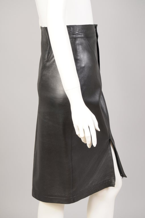Alaia Leather Skirt In Excellent Condition For Sale In New Hope, PA