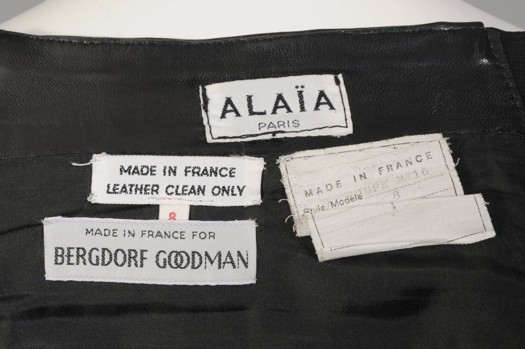 Alaia Leather Skirt For Sale 1