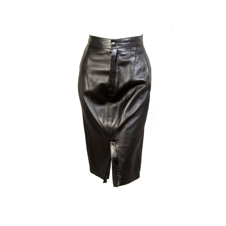 Alaia Leather Skirt