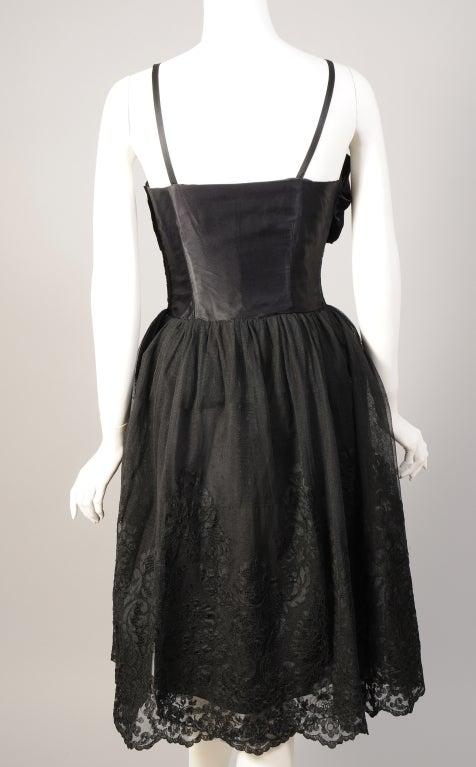 Mainbocher 1950s Chantilly Lace Dress At 1stdibs