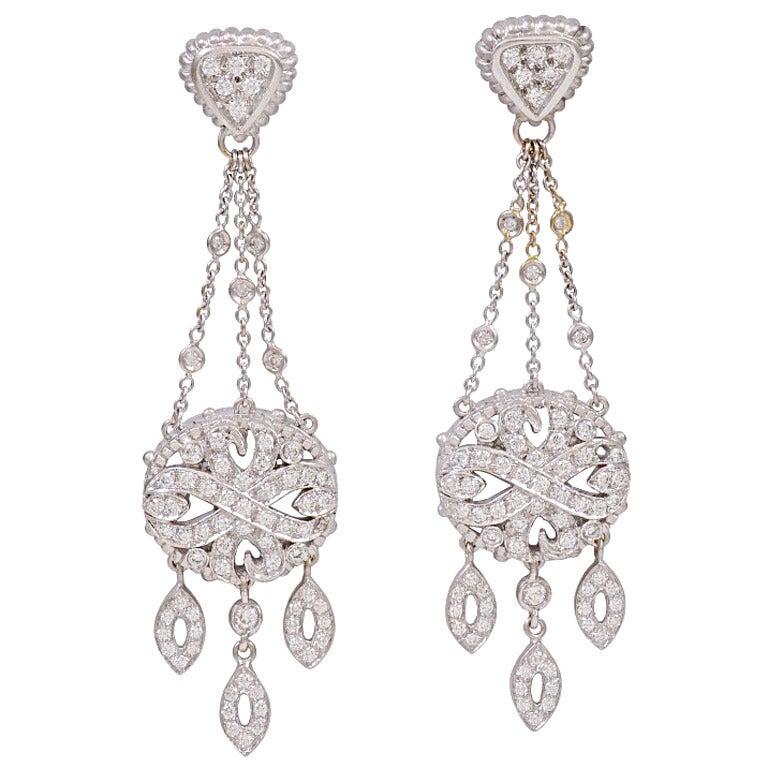 White Gold Diamond Chandelier Earrings Chandeliers Design – Black Diamond Chandelier Earrings