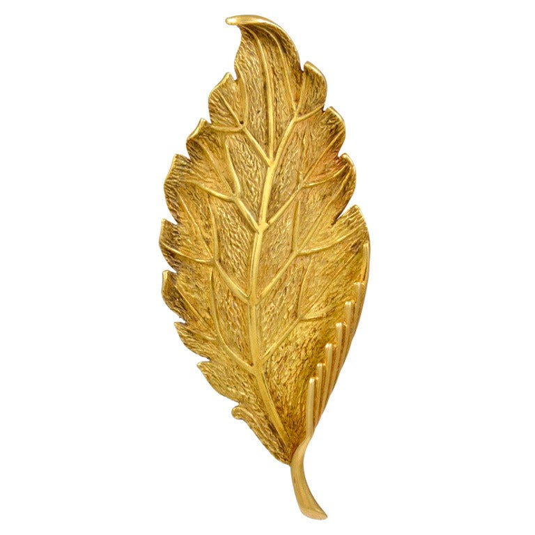 Tiffany And Co Gold Leaf Brooch At 1stdibs