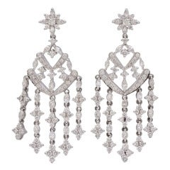 Kwiat Diamond Gold Chandelier Earrings