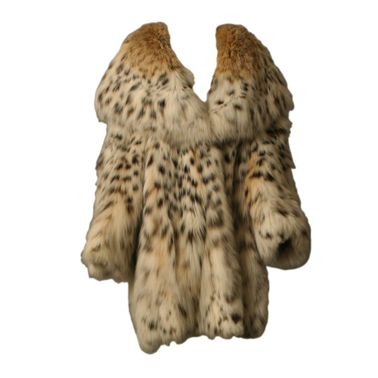 Rebecca Exceptional Montana Lynx Fur Coat At 1stdibs