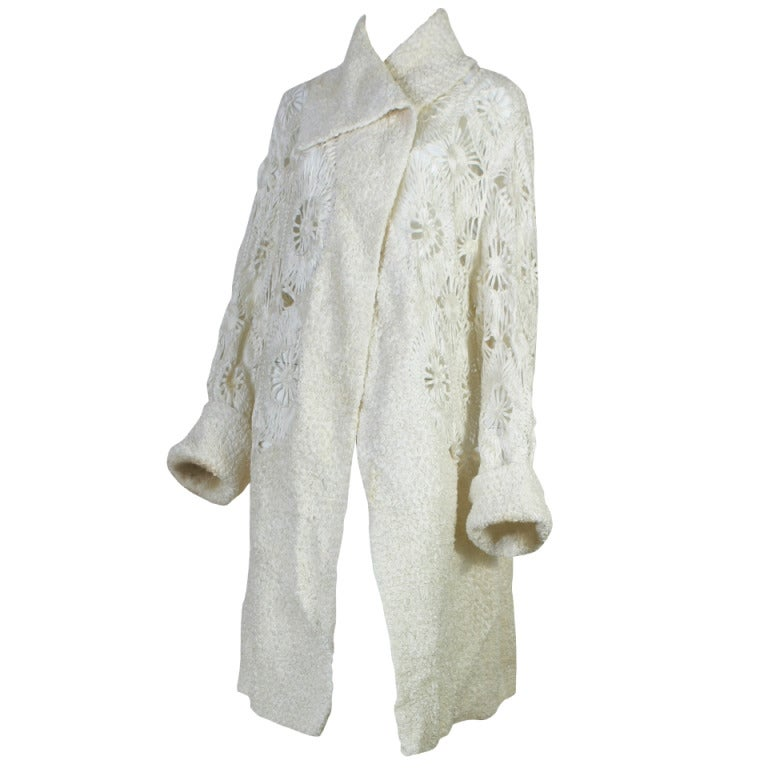 1920s french haute couture superb guipure coat at 1stdibs for 1920 s haute couture