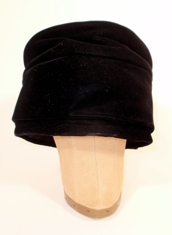 Balenciaga Vintage Black Velvet Turban, Made for Macy's image 3