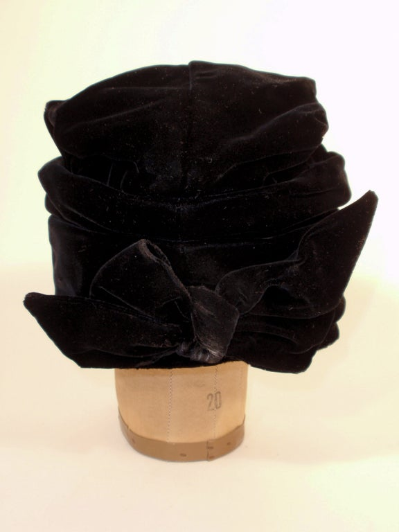 Balenciaga Vintage Black Velvet Turban, Made for Macy's image 6