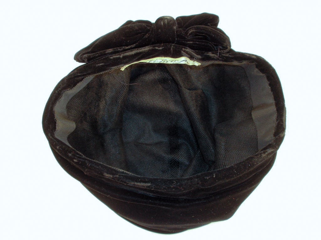 Balenciaga Vintage Black Velvet Turban, Made for Macy's image 7
