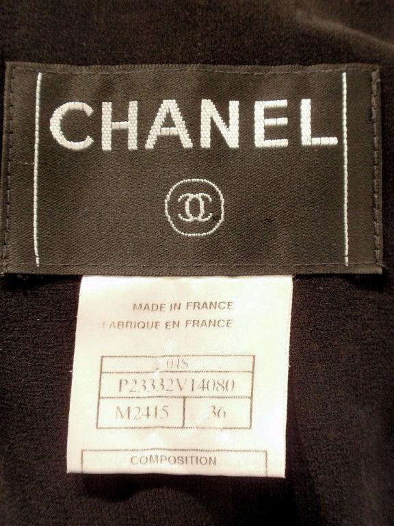 Chanel Black Boucle Wool Jacket w/ White Fleck Plaid 2