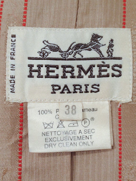 Hermes Camel Hair Duffle Coat w/ Hood & Gold Toggle Buttons 2