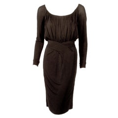Ceil Chapman Vintage Black Long Sleeve Jersey Cocktail Dress