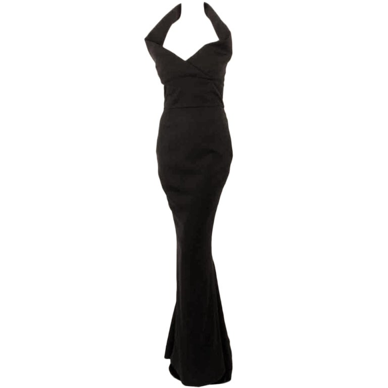 Elizabeth Mason Couture Black Silk Doupioni 'Maria' Gown Made-to-Measure 1