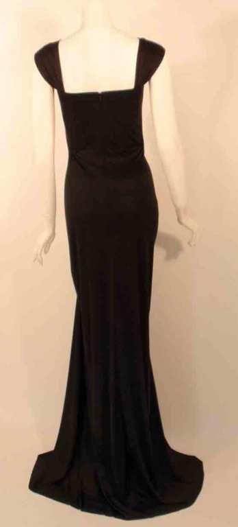 "Elizabeth Mason Couture Black Silk Jersey ""Uta"" Gown 5"