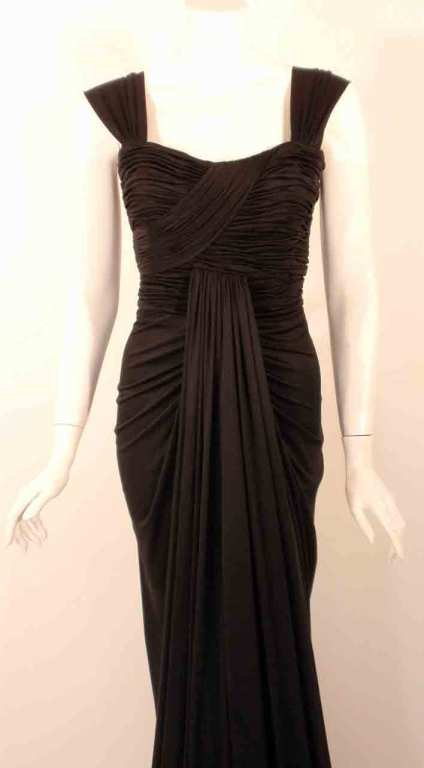 "Elizabeth Mason Couture Black Silk Jersey ""Uta"" Gown 6"