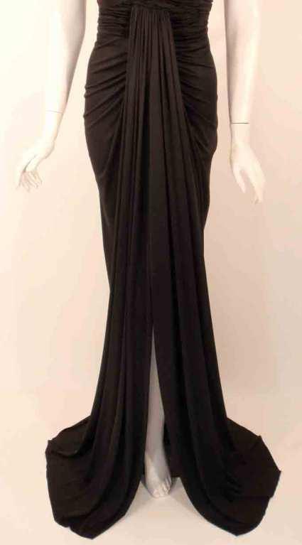 "Elizabeth Mason Couture Black Silk Jersey ""Uta"" Gown 7"