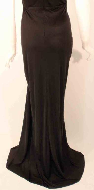 "Elizabeth Mason Couture Black Silk Jersey ""Uta"" Gown 10"